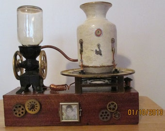 Steampunk Pet Ash Urn