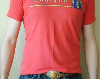 Vintage 1980s C. R. England Global Transportation Company T-Shirt size L