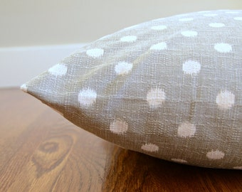 Dog Bed Cover, Modern Custom Dog Bed, Ikat Polka Dot Gray and White Pet Bed Cover, Choose Your Size XS S M L XL XXL