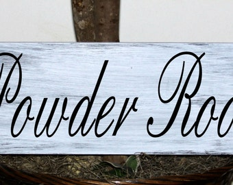 Primitive - Powder Room wood sign
