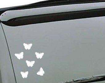 Butterflies vinyl car decals - set of 6