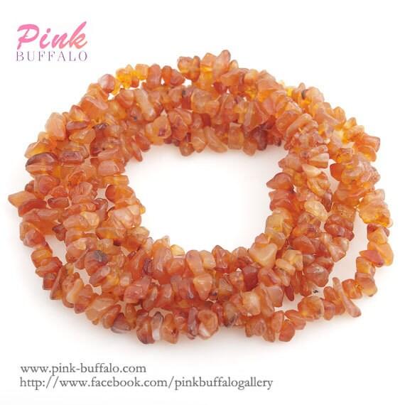 Small Size Beads: Carnelian Chips Beads Small Size 5-8mm Strand Carnelian Semi