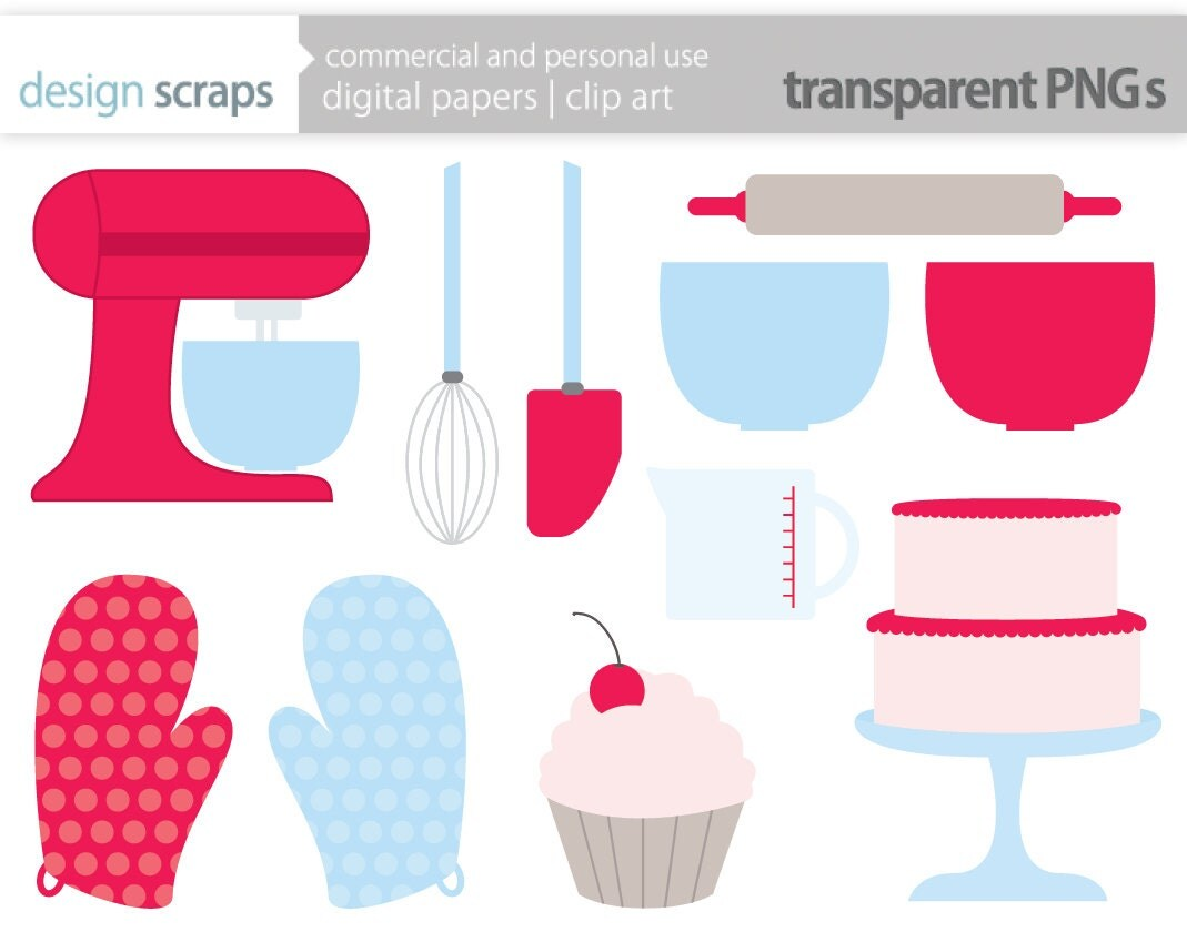 Baking Clipart Kitchen Clip Art Digital Graphics By