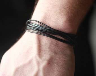 Mens leather wrap Bracelet - Mens leather Bracelet