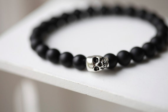 Style for boys and men. Skull Bead Stone Bracelet DESIGN > YUXI Steampunk Metal Smile Skull Bracelets Elastic Black Beads Chain Skeleton Men Bracelet Male Hand. by YUXI. $ - $ $ 6 $ 11 99 Prime. FREE Shipping on eligible orders. Some colors are Prime eligible. out of 5 stars 4.