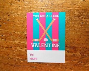 Hockey Valentine Pink