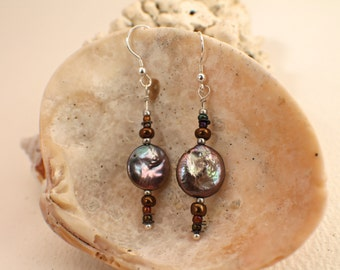 Pearly Purple Earrings