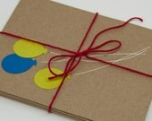 5 Pack Cards - Balloons, Handmade