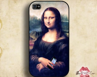 Mona Lisa (iPhona-Lisa) Leonardo DaVinci  - iPhone 4/4S 5/5S/5C/6/6+ and now iPhone 7 cases!! And Samsung Galaxy S3/S4/S5/S6/S7