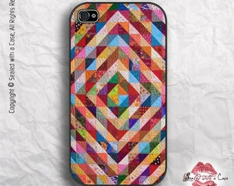 Colorful Patchwork Quilt - iPhone 4/4S 5/5S/5C/6/6+ and now iPhone 7 cases!! And Samsung Galaxy S3/S4/S5/S6/S7