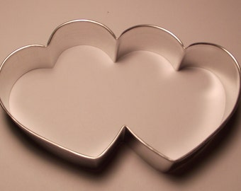 "5 "" Double Heart Cookie Cutter"