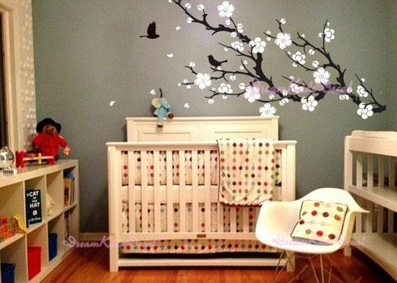 Adesivi murali fiore ciliegio ramo decalcomanie di dreamkidsdecal