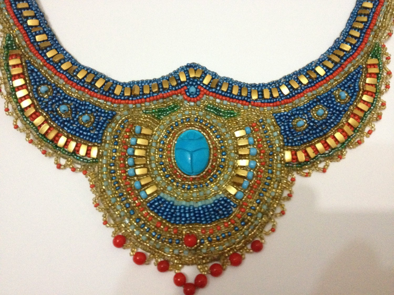 Items similar to Egyptian Scarab Necklace. Egyptian ...