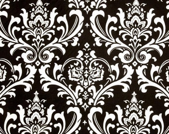 Black Damask Fabric By The Yard Premier Prints Ozborne Cotton Upholstery Home Decor Fabrics Curtains Pillows