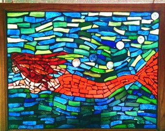 Mosaic Glass Mermaid Suncatcher