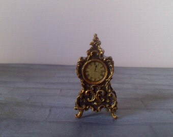 12th Scaled dolls house Rococo Style Clock