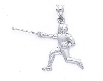 Sterling Silver Fenceman Pendant.