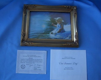 Miniature Lithograph Pemberton & Oakes Donald Zolan's ONE SUMMER DAY 1992