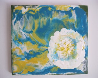 Original Encaustic Painting - Explosion