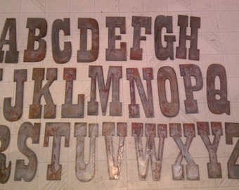 6 inch letters alphabet per letter rusty vintage western style metal steel wall art ornament magnet stencil