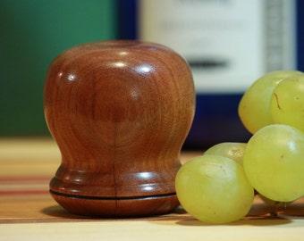 Hickory Wood Wine Bottle Stopper