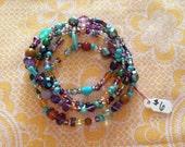 Fluorite Multi Strand Bracelet