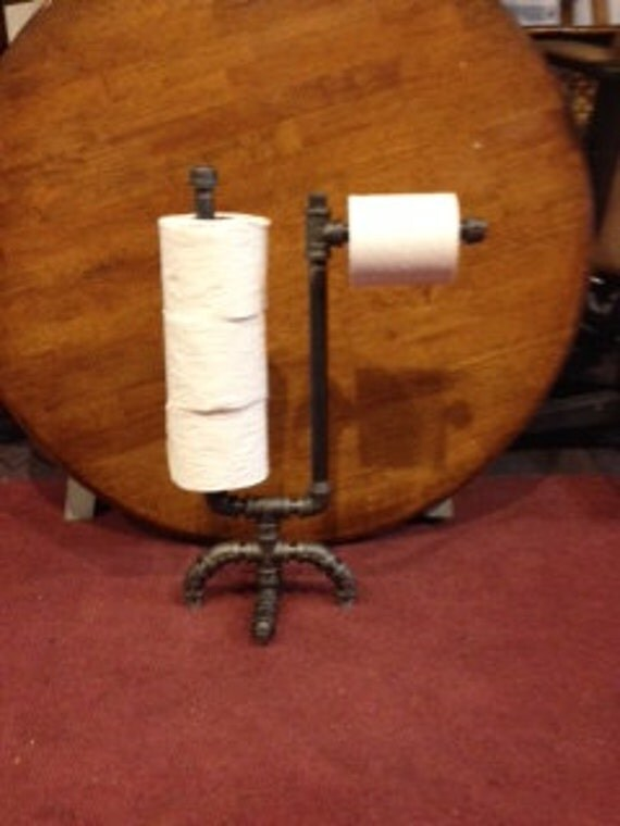 Items similar to toilet paper holder and storage black for Decoration porte toilette