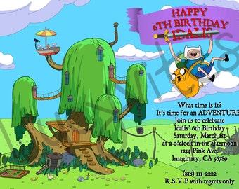 Adventure Time Digital Invitation