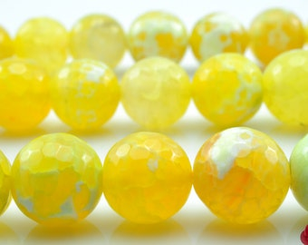 31 pcs of Fire Agate faceted round beads in 12mm