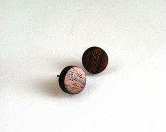 Minimalist Wood Post Earrings