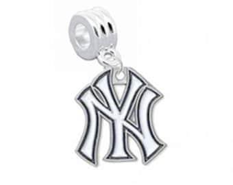 New York Yankees European Charm for Bracelet