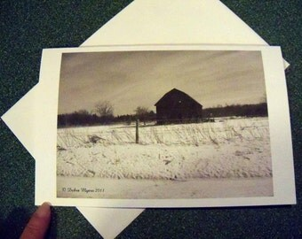 Old barn note card