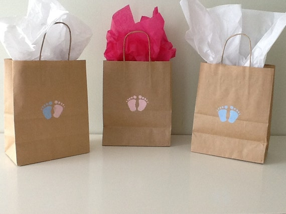 gift bag new baby gender reveal baby shower by lifeofacaptainswife