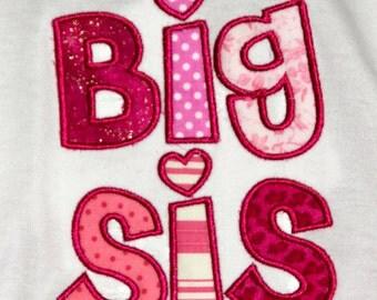 Big Sister Shirt, Little Sis, Big Sis Shirt for Baby Announcement