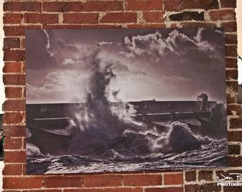 Brighton Marina - wave crash photography