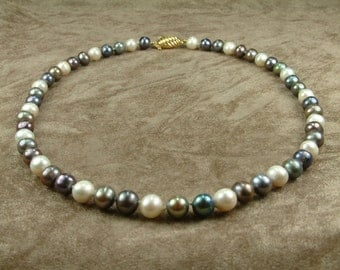 Multicolor Pearl Necklace 8 - 8.5 mm