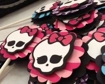 Monster High Cupcake Toppers