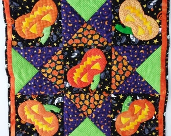 Halloween Decor Handmade Quilt Homemade Pumpkin Jack O
