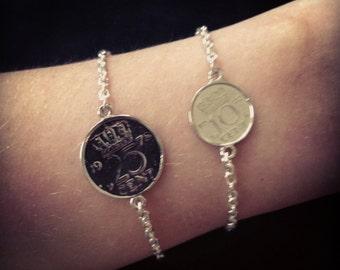 Old dutch coin bracelet - 10ct bracelet - holland - dutch