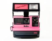Pop Art Photo, Neon Melon Pink Polaroid Love, 600 Cool Cam, Photography, Rainbow Camera, Square Photo, Fine Art Photography, Summer