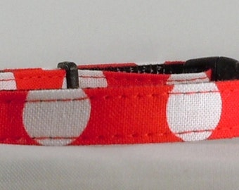Cat Collar - Red and White Polka Dots