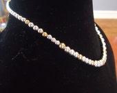 Vintage Goldtone and Silvertone Napier Necklace