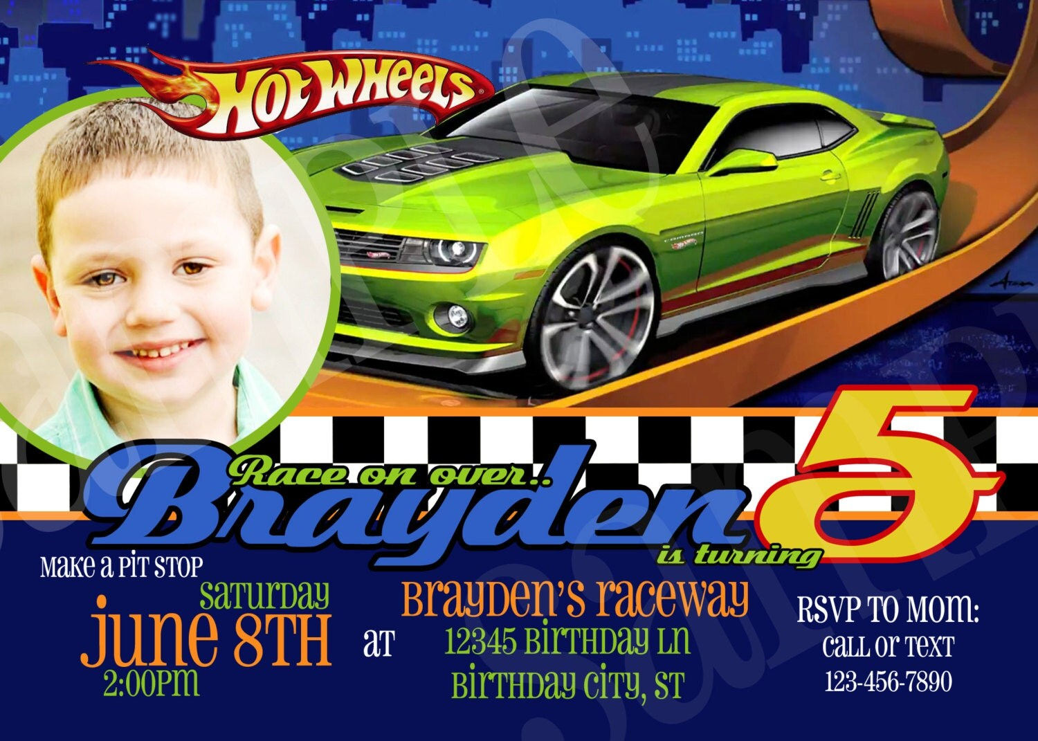 Hot Wheel Birthday Invitations was perfect invitations template