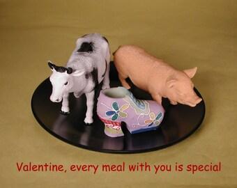 Valentine card:  Moo Shoe Pork