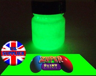 PREMIUM Zuperpaint Green Glow In The Dark Paint 30ml