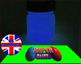 PREMIUM Zuperpaint Blue Glow In The Dark Paint 30ml