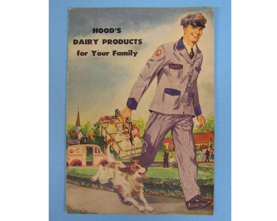 Hood's Dairy Products for Your Family Booklet with recipes, 1940's 1950's