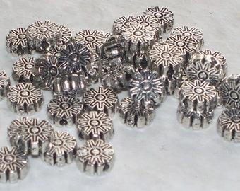 Tibetan Silver Flower  Spacers - 40