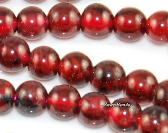 4mm Sangria Red Garnet Gemstone Round 4mm Loose Beads 15.8 inch Full Strand (90165059-7)