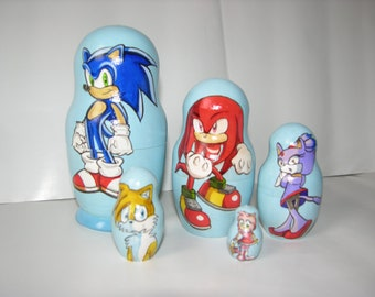 Sonic the Hedgehog nesting doll